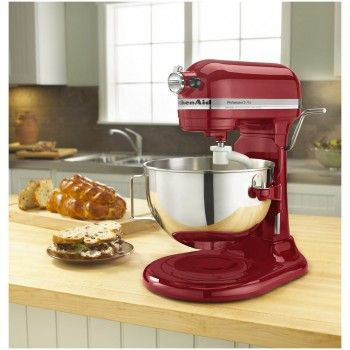 KitchenAid Professional 5 Plus Mixer in Use on Countertop