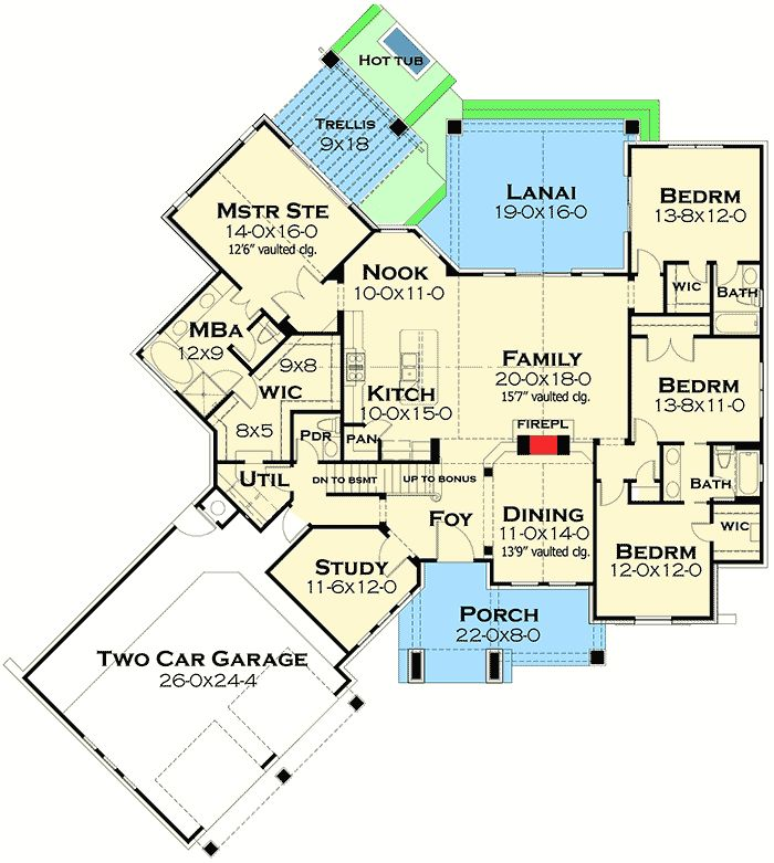 619 Best House Designs And Floor Plans Images On Pinterest