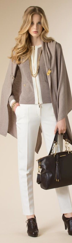 Luisa Spagnoli 2015/16. El estilo de la mujer realza cualquier prenda que vista.