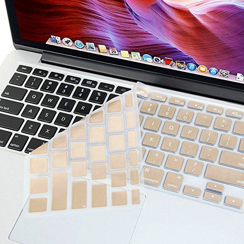 "Se7enline Ultra Thin Champagne Golden Soft Silicone Keyboard Cover Skin Protector (US Layout) for 13"" 15"" 17"" MacBook Air/ Pro with Retina Display 13 inch Models: A1369, A1466, A1502, A1425, A1398, Gold Se7enline http://www.amazon.com/dp/B010HK1RQS/ref=cm_sw_r_pi_dp_zmTCwb1R7M4WX"