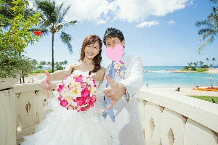 Hawaii Wedding当日レポ12~コオリナチャペル~♡ワタベ♡チャペルの外で撮影② |** Hitomin blog **~アニヴェルセルみなとみらい&ハワイWedding story~