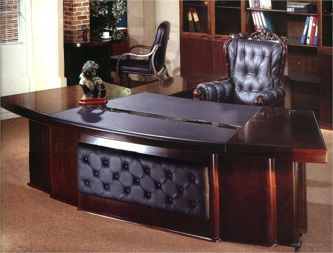 Cool Gray Office Furniture Creative Corner Style Elegant Office