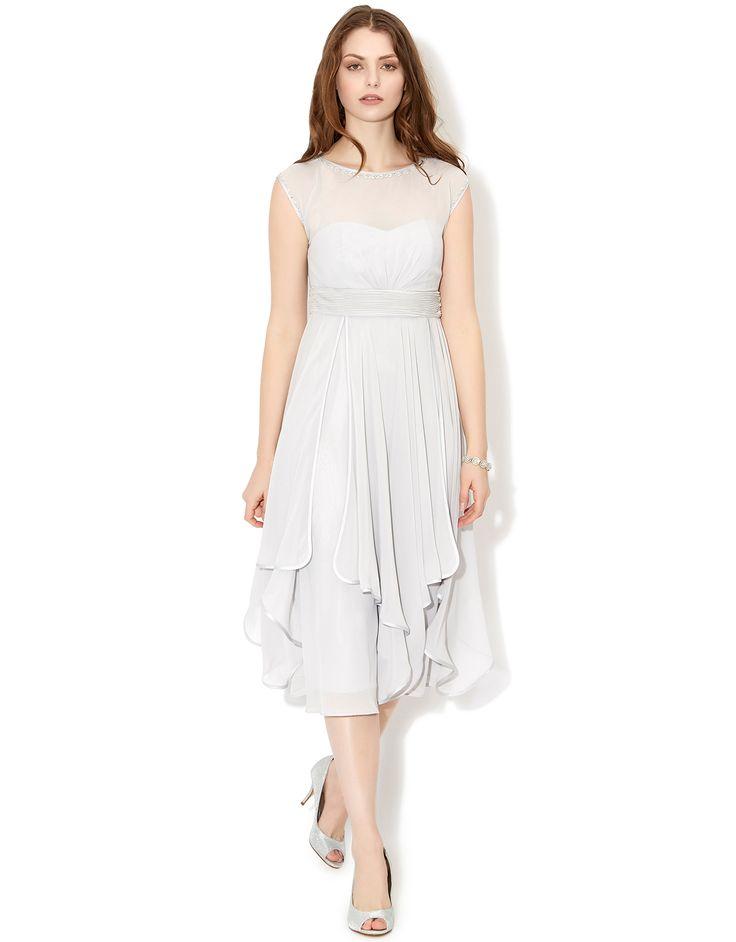 Anya Dress | Silver | Monsoon