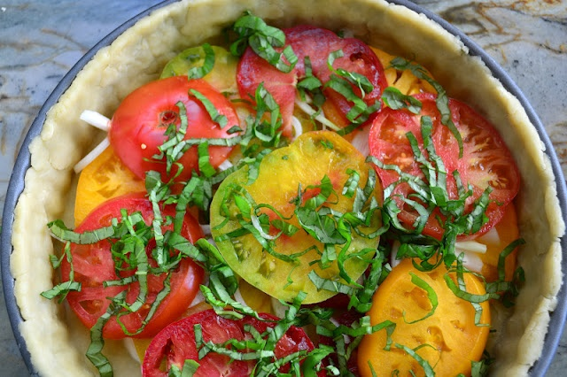 Southern Tomato Pie with Vodka Crust from The view from Great Island blog: Southern Tomatoes, Pies Crusts, The View, Vodka Crusts, Food Pies, Islands, Tomato Pie, Tomatoes Recipes, Tomatoes Pies