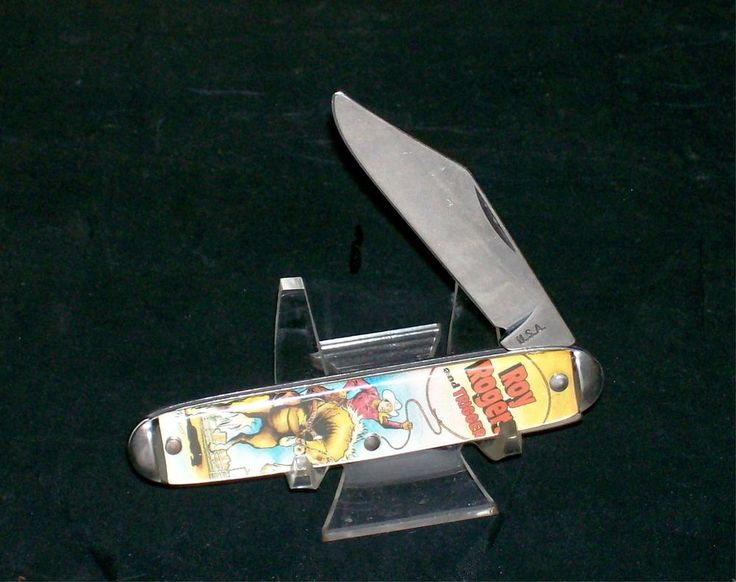 Colonial Character Knife Quot Roy Rogers Quot Master Brand Circa