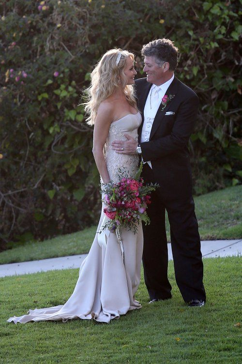 Taylor Armstrong marries John Bluher in cliff-top sunset ceremony in Pacific Palisades, CA