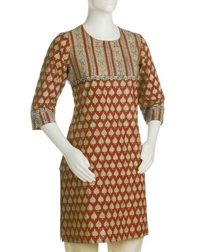 Women's Cotton Printed Amrapalli Mini Kurta