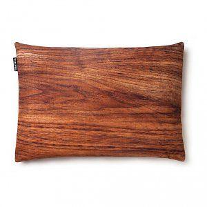 Snurk Beddengoed Sierkussen hoes 'Walter walnut' bruin hout 35x50cm
