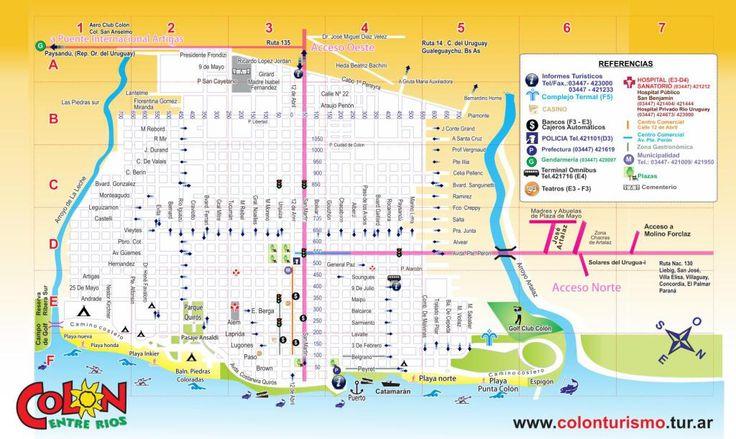 Mapa callejero de la ciudad de Colón: lee la nota completa en : http://mapa-maps.com.ar/colon-entre-rios/