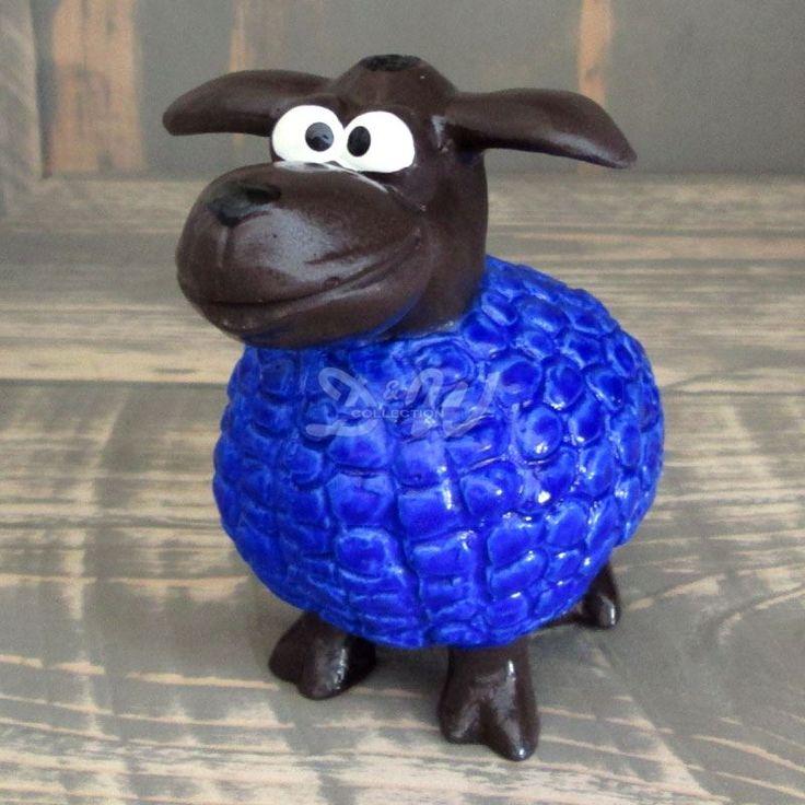 Wölkchen Schaf blau (mini) brauner Kopf