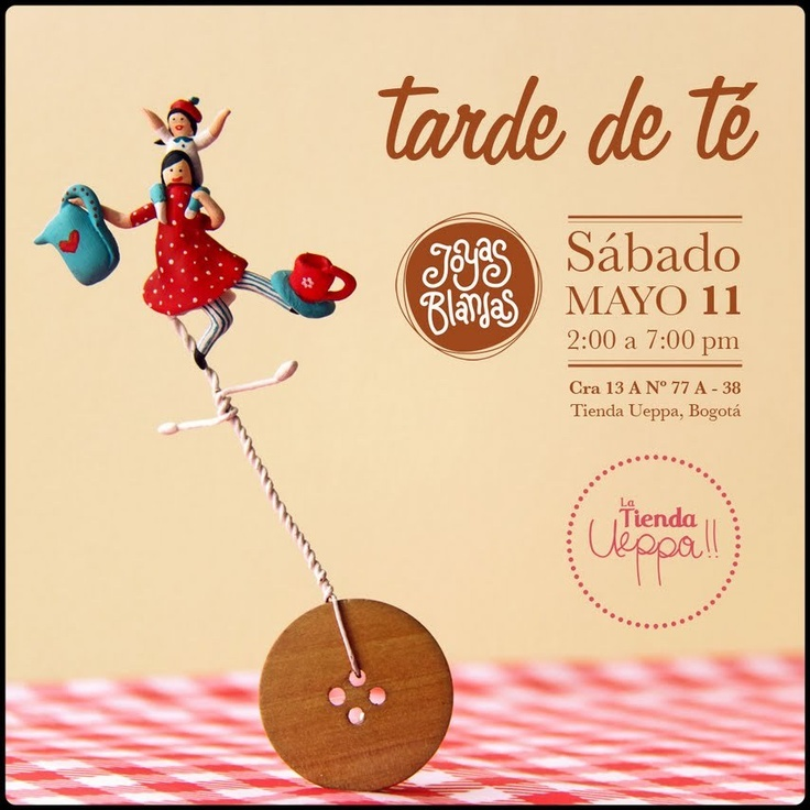 Tarde de Té 11 de Mayo: Joyas Blandas en La tienda Ueppa!!