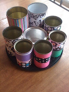 Upcycled Tin Can Organizer: Diy Ideas, Crafts Ideas, Crafts Rooms, Kotibeth Functional D S Id Var, Koti Beth, Upcycled Tins, Tins Cans, Crafts Supplies, Offices Supplies