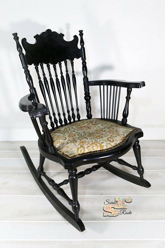 Antique Victorian Rocking Chair - Antique Victorian Rocking Chair, Rocker, Nursery, Girls Room