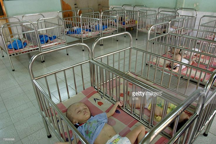 This picture taken 28 November 2006 in Ho Chi Minh City shows children sleeping inside the Tam Binh orphanage which was reportedly visited by movie star Angelina Jolie and her partner Brad Pitt. AFP PHOTO -