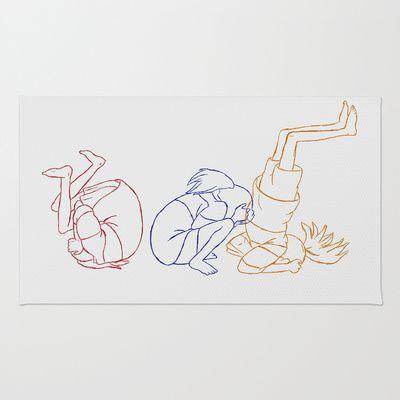 Key Frames -Chihiro  Area & Throw Rug
