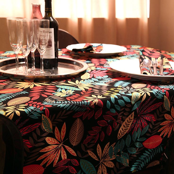 Americal Tropical Foliage Cloth Table Cloth Cotton Rectangular Dining Toalha De Mesa Ethnic Picnic Tablecloths Cover Home Decor-in Tablecloths from Home & Garden on Aliexpress.com | Alibaba Group