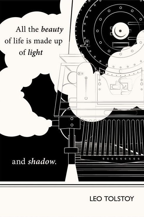 Another Art Print, this time to be paired with Leo Tolstoy.   I can't help but add this for the beautiful graphics.