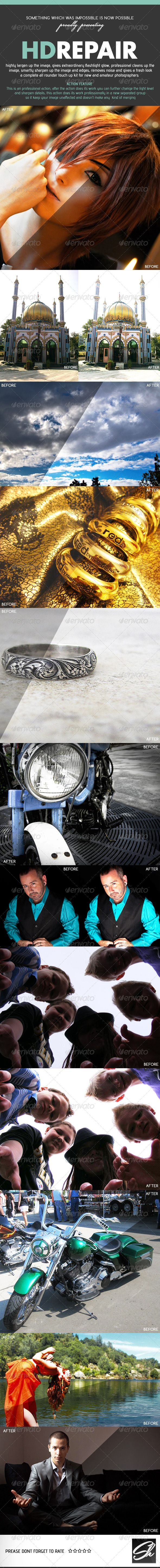 Pro HD Repair Kit - Photo Effects Actions (March 2014)