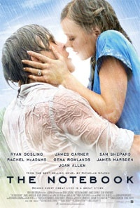 The Notebook likes - it's beautiful - cute - intense dislikes - can be corny - can't show kissing scenes in our film