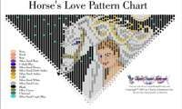 Horses Love Fringe Necklace Printable Bead Graph for Beading