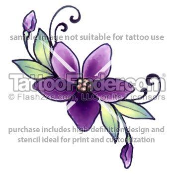 Budding Violet tattoo