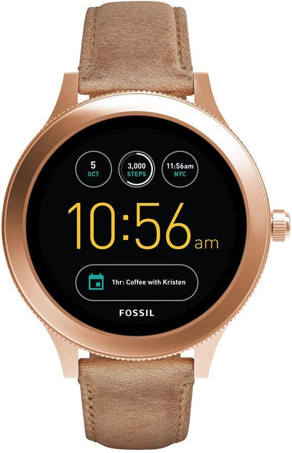 Fossil Q Women's Venture Gen 3 Light Brown Leather Strap Touchscreen Smart Watch 42mm