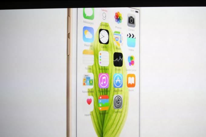 An interface shot of the iPhone 6
