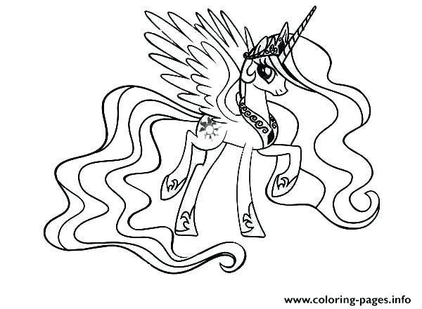 Coloriage My Little Pony Princesse Luna Ausmalen Malvorlage Einhorn