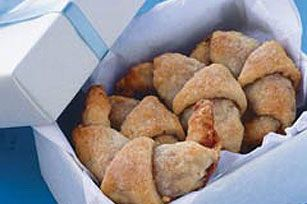 Rugelach Recipe - Kraft Recipes Use Nutella instead of jam. It would be fabulous for Christmas Eve!