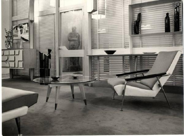 X triennale mostra di ambienti abitazione uniambientale soggiorno gio ponti gian