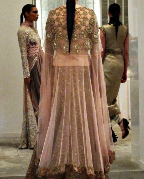 Anamika Khanna pink lengha.