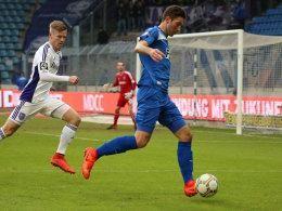 3.Liga : Magdeburg- Halle 3.0 - Marius Sowislo gegen Jules Reimerink
