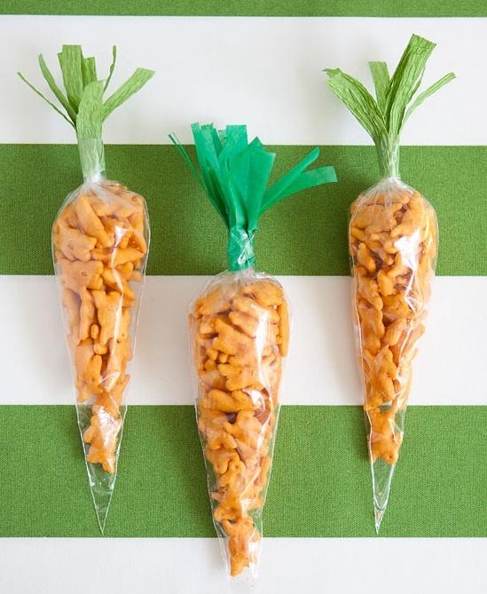 """""""Carrot"""" snacks."""
