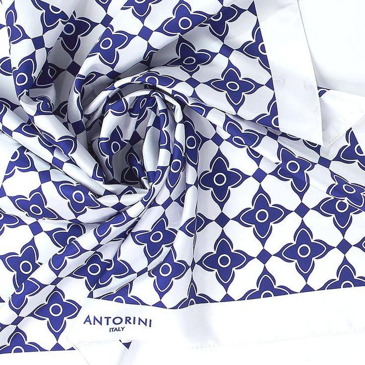 ANTORINI Geometrico Luxury Silk Scarf XIV