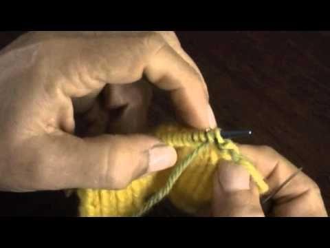 Cerrando con agujas lanera el punto elástico 1 x 1 tejido en dos agujas - YouTube