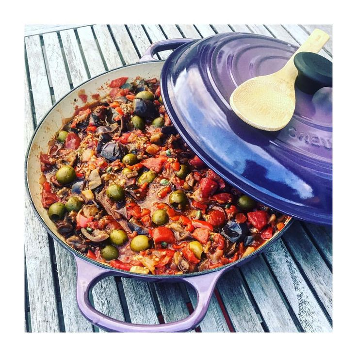 Have you ever tried #caponata, this Italian cousin of #ratatouille? Capers, olives and balsamic reduction bring Sicilian flavors in this Provençal dish #personalchef #privatechef #sfeats #healthy #lefooding #bayareabuzz #cuisinenicoise