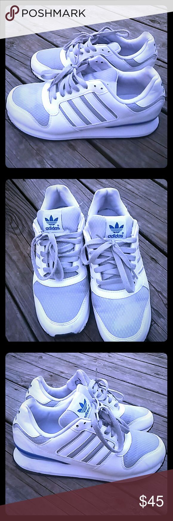 ADIDAS ZXZ WLB 2.0 Originals MENs 7.5 Blue Whit ADIDAS ZXZ WLB 2.0 Originals MENs 7.5 Gray Blue White Limited retro?   with an Adidas box but isn't the original Adidas Shoes Sneakers