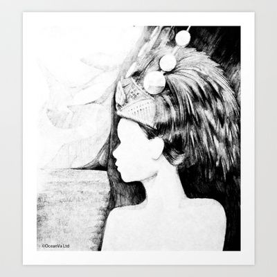 Samoan Princess Art Print by MartinLW - $15.60