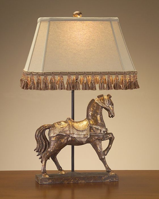 distressed gilded horse lamp shade x x x x beige linen threeway 150 watt max type a bulb also available with california wiring - Lamp Shades For Table Lamps