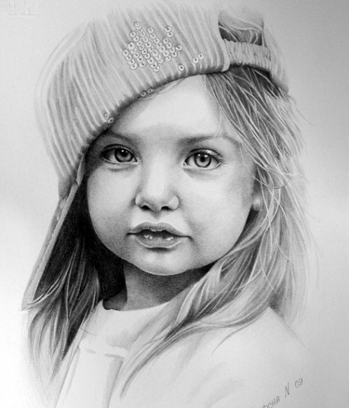 Pencil sketches of children - Google Search
