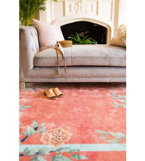 Inspired by the opulence of 1920s Chinese Art Deco rugs, the rich colors and silky sheen of this collection will bring a worldly feel to your space. Shop the look with L&G! #LANDGATHOME