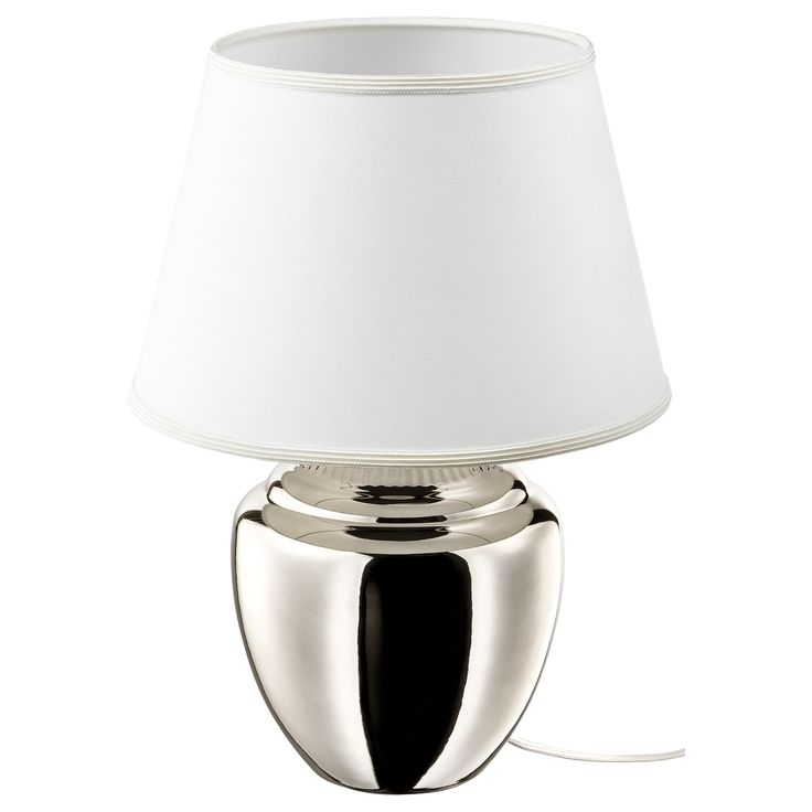 Rickarum Tischleuchte Silberfarben 47 Cm Ikea Deutschland Ikea Lamp Shade Table Lamp Ikea Lamp