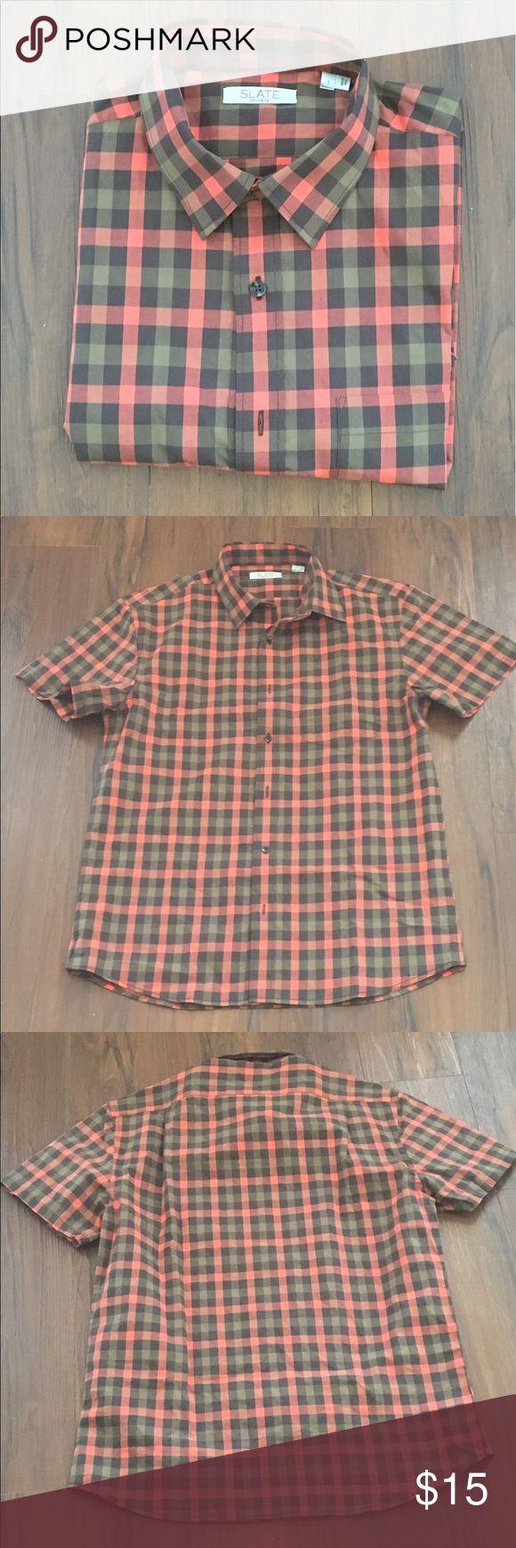 Men's Plaid shirt 👔 size Small Men's Plaid shirt.  SIZE: small Slate Denim Shirts