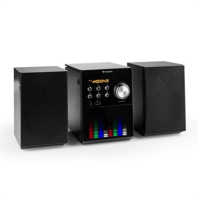 Auna Mc 200 Led Micro Chaine Stereo Bluetooth Cd Usb Mp3 Fm