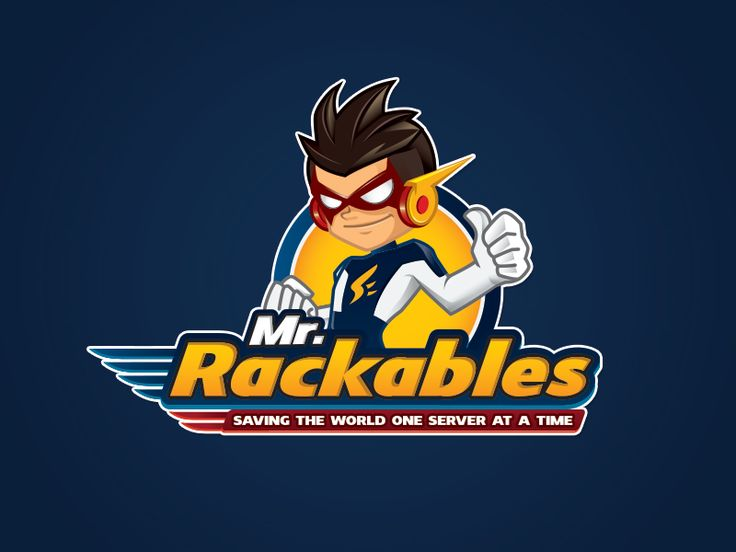 Final logo and character for Mr. Rackables.