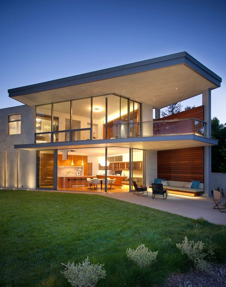 A home in california for a bachelor who gets frequent - Residence inversee studios architecture en californie ...