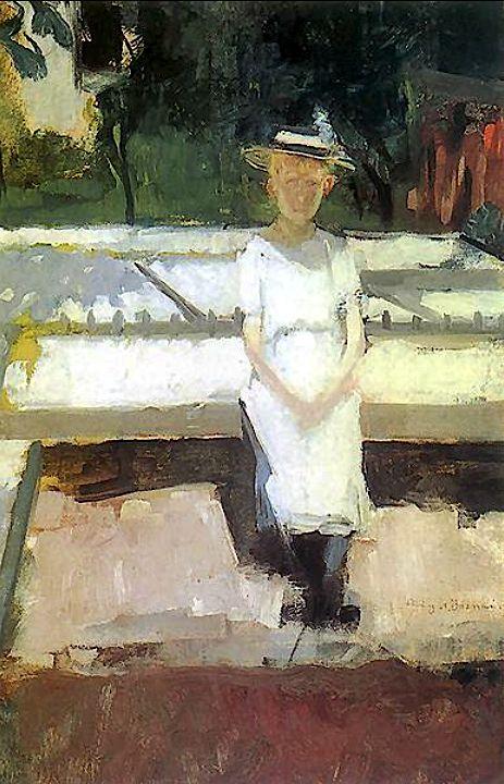 Girl in the Garden Olga Boznańska - 1896