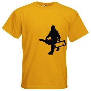 Men's Sasquatch With Guitar Gear T-Shirt (Yellow)
