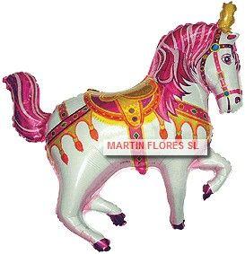Globo helio caballo rosa en www.martinfloressl.es para comunion en #sevilla
