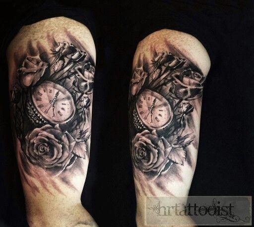 Clock n roses design